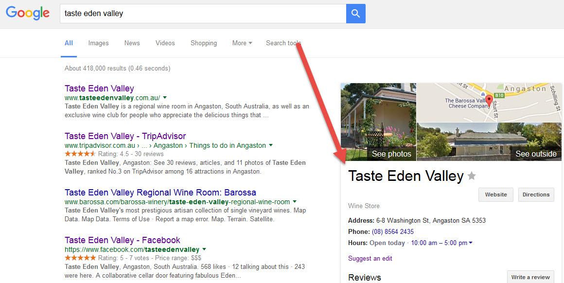 Taste Eden Valley Wine online presencde