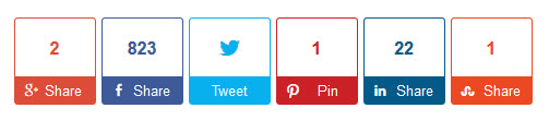include social sharing buttons on your website